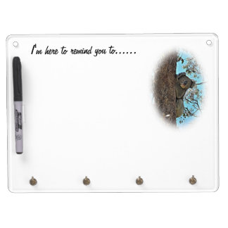 コアラのメモの伝言板 キーホルダーフック付きホワイトボード