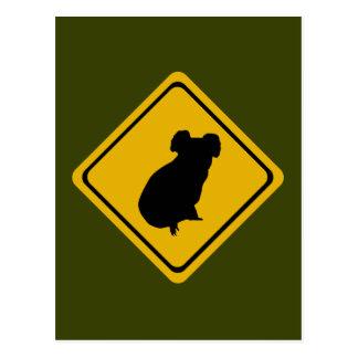 コアラの交通標識 ポストカード