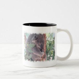 コアラの写真のコーヒー・マグ ツートーンマグカップ