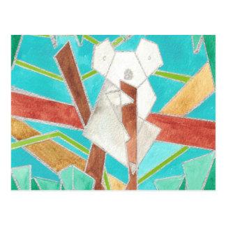コアラの水彩画の芸術 ポストカード