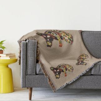 コアラの野生動物の原生の芸術 毛布