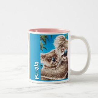 コアラ及びベビーのマグ ツートーンマグカップ