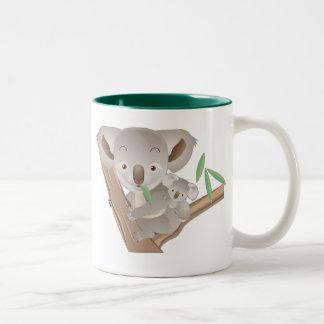 コアラ家族 ツートーンマグカップ