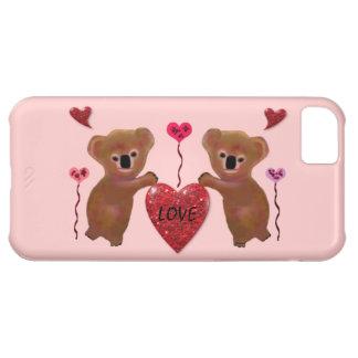 コアラ愛ハートのIPhone 5の場合 iPhone5Cケース