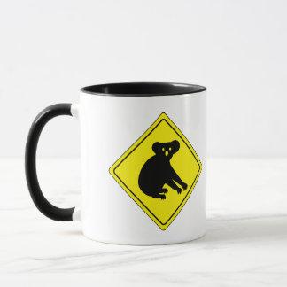 コアラ、交通警告標識、オーストラリアを用心して下さい マグカップ