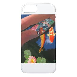 コイの入れ墨ユリの池の電話箱 iPhone 8/7ケース