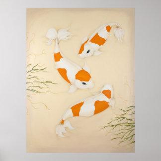 コイの日本人の魚の芸術のプリント ポスター