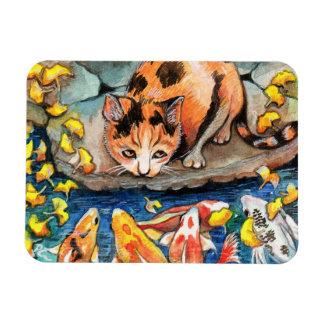 コイの池による猫 マグネット