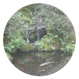 コイの池 プレート