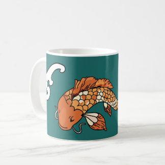 コイの池-大きい魚のコーヒー・マグ コーヒーマグカップ