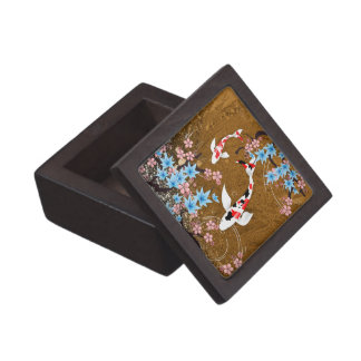 コイの池-木-は日本語2つをギフト用の箱設計します ギフトボックス