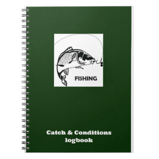 コイの漁獲および状態の記録帳 ノートブック