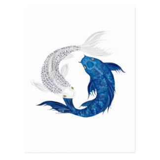 コイの豪奢で青い幽霊の銀 ポストカード
