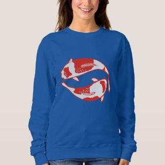 コイの魚の女性のスエットシャツ、王室のな深い スウェットシャツ