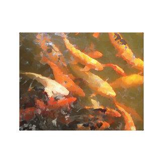コイの魚 キャンバスプリント