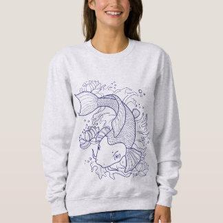 コイの魚 スウェットシャツ