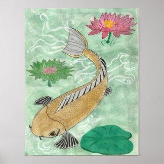 コイの魚 ポスター