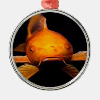 コイの魚 メタルオーナメント