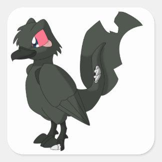 コイのReptilianの鳥-ゾンビKarasugoi スクエアシール