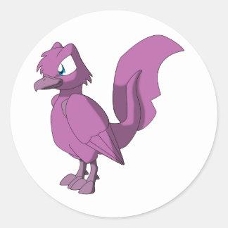 コイのReptilianの鳥-暗いBubblegum ラウンドシール