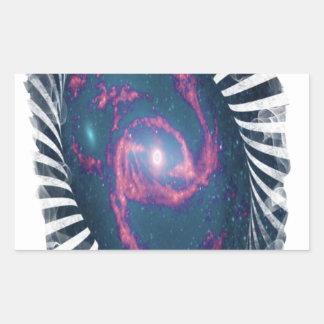 コイル状の銀河系 長方形シール