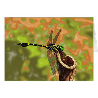 コオニヤンマ dragonfly グリーティングカード