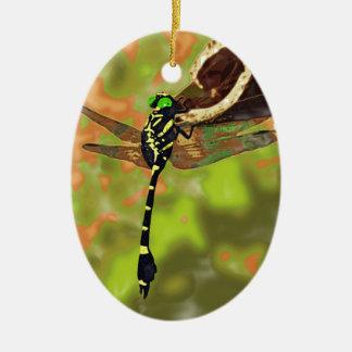 コオニヤンマ dragonfly 陶器製卵型オーナメント