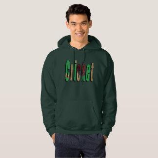 コオロギのゲームのロゴ、メンズ緑のフード付きスウェットシャツ パーカ