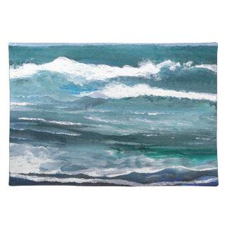 コオロギの海の海洋波のビーチのギフト ランチョンマット