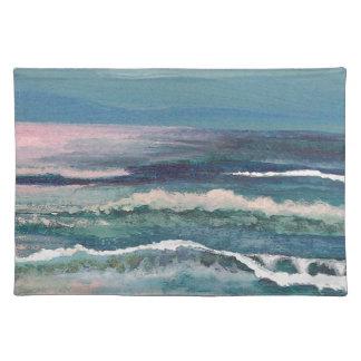 コオロギの海-ビーチの海景 ランチョンマット
