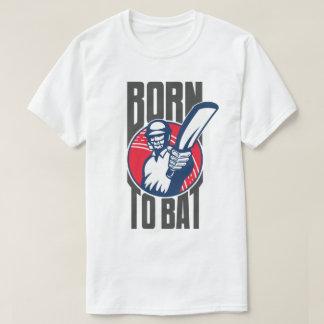 コオロギの訓練のスポーツチームTシャツを打つために生まれて下さい Tシャツ