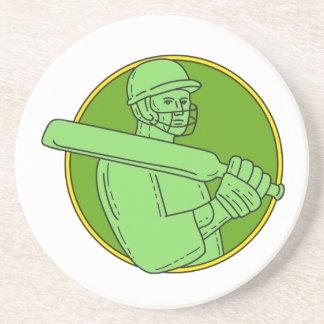 コオロギプレーヤーの打者の円のモノラルライン コースター