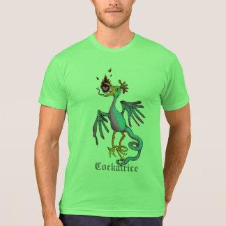 コカトリスの中世獣のグラフィックのティー Tシャツ