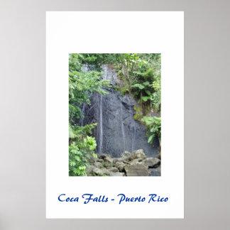 コカノキの滝-プエルトリコポスター ポスター