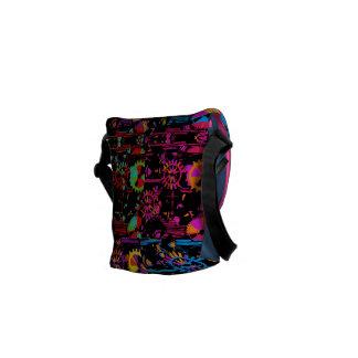 コグおよびギアのPopartのカラフルなメッセンジャーバッグ メッセンジャーバッグ