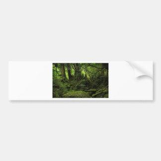 コケのジャングルの森林 バンパーステッカー