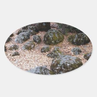 コケの石 楕円形シール