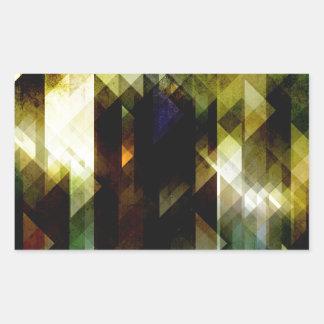 コケむした緑の抽象芸術 長方形シール