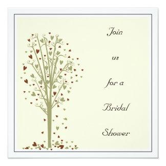 コケ及びココアハートの木: シャワーの招待状 カード