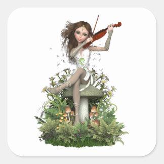 コケ瑪瑙の妖精の~のメロディー スクエアシール