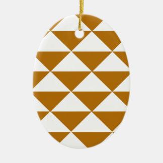 ココアおよび白い三角形 セラミックオーナメント