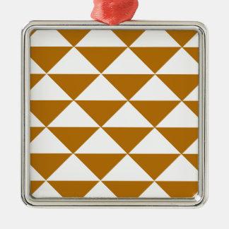 ココアおよび白い三角形 メタルオーナメント