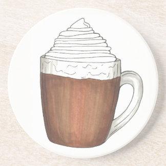 ココアのココア暖かい冬休みの飲み物 コースター