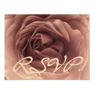 ココアはカードRSVPの結婚式の応答上がりました カード
