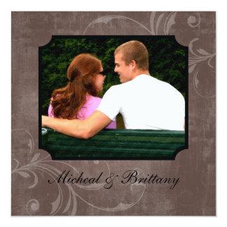 ココアアクセントの結婚式の婚約の発表 カード