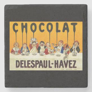 ココアシロップを持つCholat Delespaul Havezの子供 ストーンコースター