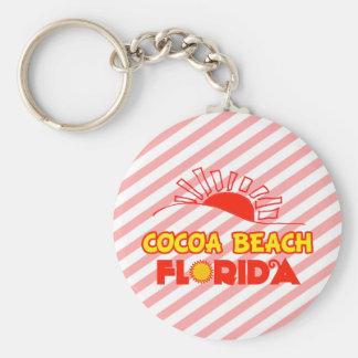 ココアビーチ、フロリダ ベーシック丸型缶キーホルダー