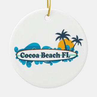 ココアビーチ-波 セラミックオーナメント