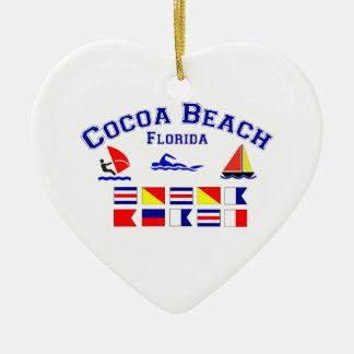 ココアビーチFLのシグナルフラグ セラミックオーナメント
