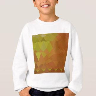 ココアブラウンの抽象的で低い多角形の背景 スウェットシャツ
